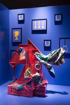 HERMÈS UK Retail Windows | Curiosity Cabinet at Sloane Street, London, 2015 by Millington Associates