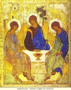 Andrei Rublev. The Old Testament Trinity. c.1410s. The Tretyakov Gallery, Moscow, Russia