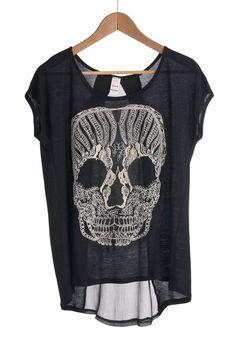 Calavera Chic Top | Mod Retro Vintage Short Sleeve Shirts | ModCloth.com