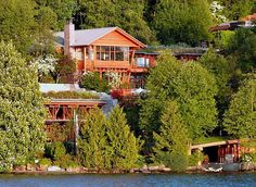 Lake Front - Rare Photos Let You See Inside Bill Gates Extraordinary Home - Page 8 of 27 - Time to Break Bill Gates's House, Beautiful Homes, Beautiful Places, Amazing Places, Houses In America, Richest In The World, Richest Man, Modern Mansion, Interesting Buildings