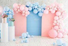 Happy Birthday Decor, 40th Birthday Decorations, Gender Reveal Party Decorations, Balloon Decorations, Birthday Ideas, Gender Party, Baby Gender Reveal Party, Baby Shower Balloons, Baby Shower Parties