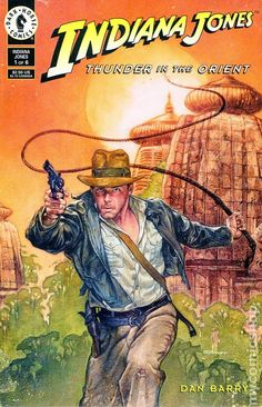 Indiana Jones, Thunder in the Orient.  Cover by Dave Dorman.  Issue #1 (1993)