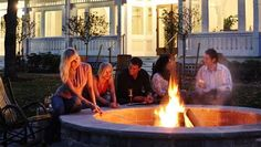 Fire pit at Bedford Springs Resort