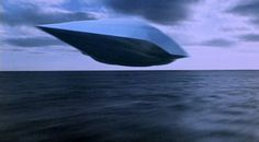 The craft may also seem slightly familiar to children of the 1980s, who have seen Disney's Flight of the Navigator, because of its streamlined shape and metal body. A still from the film is pictured