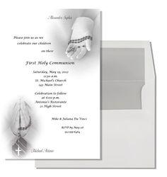07e6dee3db9358c457f83034b03eb412 communion invitations the rosary first communion invitation twins (digital file) communion,First Communion Invitations For Boy Girl Twins