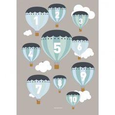 Plakat - Ballon 1-10 - Mint