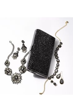Party perfect accessories to complete tonight's NYE outfit.