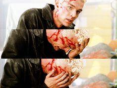 Spike when Buffy dies... so sad :(