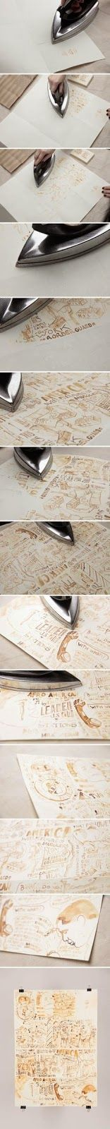 DIY Draw with milk on paper.  Let it dry for 20 minutes. Then iron to reveal your artistry!!!  :)