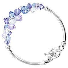 Multi Crystal Bracelet in Sterling Silver with Swarovski Elements