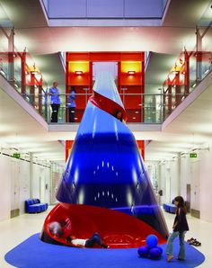 The Helter Skelter slide at Evalina Children's Hospital, London.