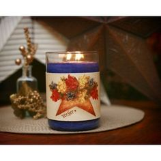 Large Star Pocket Floral Candle Wrap #24  www.thisilldocreations.com