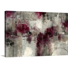 "Canvas On Demand 'Stone Gardens' by Silvia Vassileva Painting Print on Canvas Size: 24"" H x 36"" W x 1.25"" D"
