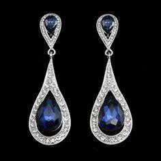 Crystal Long Drop Earrings