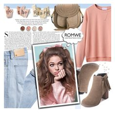 """""""Pink Drop Shoulder High Low Cuffed T-shirt"""" by natasa-topalovic ❤ liked on Polyvore featuring Chloé, Kershaw and Terre Mère"""