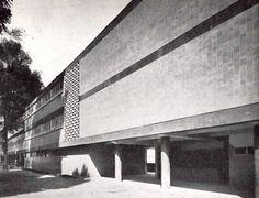 Escuela, Jardín Centenario, Coyoacán, México, DF 1949  Arq. Jose Luis Certucha -  School, Coyoacan, Mexico City 1949
