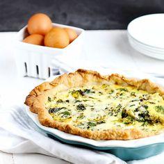 Spinach and Broccoli Quiche