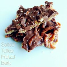 Two Sweets: salted toffee pretzel bark