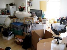 Once your boxes are moved in, the first thing to unpack is THE KITCHEN!!! Completely unpack the kitchen so that there aren't any boxes left, so you have at least one room that is a sanctuary - and it's the food room! Next: set up the beds. Then you're done for night one in the your new house and will have a normal second day morning with sheets and coffee.