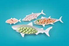Fish-Shaped Food Nesting Dishes
