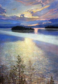Lac Keitele en hiver Akseli Gallen-Kallela - 1901 Ateneum Art Museum, Helsinki.