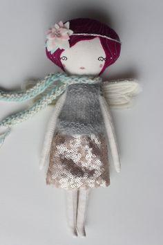 Little Fairy Doll   Heirloom Cloth Doll by libertylavenderdolls