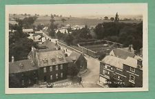 Deddington Oxfordshire view from church tower real photo postcard Frank Packer