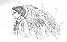 Castiel, Supernatural, Superwholock, Drawing Reference, Fan Art, Drawings, Artwork, Anime, Fandoms Unite