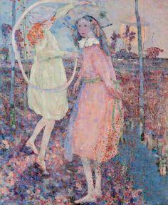 John Quinton Pringle (1864-1925) Girls at Play 1905 Hunterian Art Gallery, Glasgow,