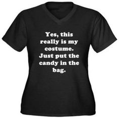 CafePress Women's Plus-Size This is My Costume T-Shirt, Size: 2XL, Black