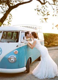 VW Bus Bliss! http://happily.io #happily #wedding #getawaycar