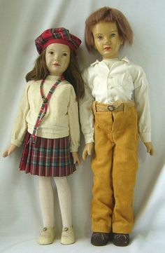 Vintage Portrait Character Doll Pair by Artist Dewees Cochran from joan-lynetteantiquedolls on Ruby Lane