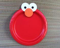 12 fiesta de cumpleaños de Elmo placas/Elmo decoraciones/Elmo fiesta placas/sésamo calle decoraciones/sésamo calle cumpleaños fiesta centros de mesa de /Elmo