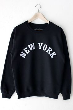 buy popular d2266 11f4a Description - Size Guide Details  New York oversized unisex fit sweatshirt  in black