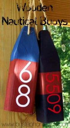 Wooden Nautical Buoys | 36 Utterly Charming Nautical DIYs