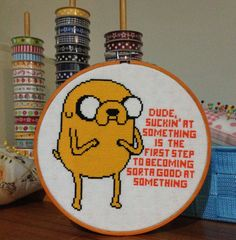 Adventure Time Jake Cross Stitch Pattern by BooStitches on Etsy