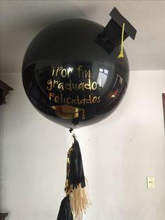 Felicidades Graduado Celebración Fiesta Favor Regalo De Decoración Con Globos Tapa de graduación