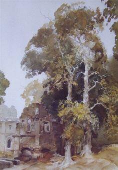 Sir William Russell Flint, Scottish artist. Watercolour