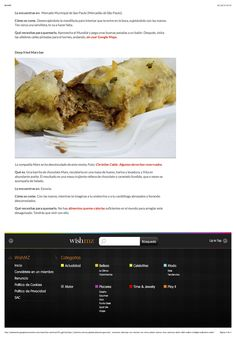 Amplía tus horizontes, obstruye tus arterias: los cinco platos típicos más calóricos, página 4. Publicado en la web de Wish Magazine, ahora inactiva.