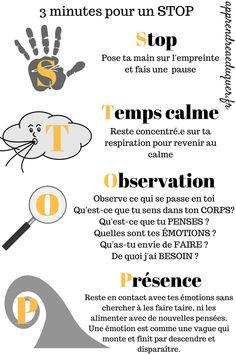 émotions enfants 3 minutes pour un STOP by noreen Autism Education, Education Positive, Higher Education, Teaching Emotions, Emotions Preschool, Emotions Activities, Autism Teaching, Brain Gym, Trouble