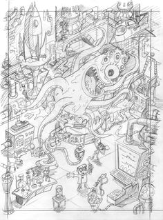 Dexter's Laboratory Illustration for Cartoon Network's 20th Birthday - illustration by Rod Hunt