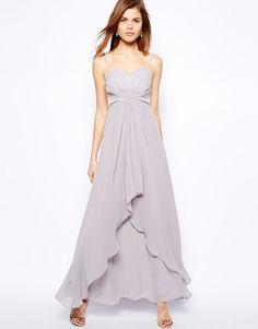 Coast Michigan Maxi Evening Wedding Dress in Dove UK 16/EU 44/US 12 rrp £160