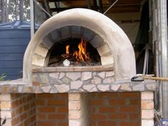 Here are some instructions on how to build this wood fired brick pizza oven using normal house bricks and pavers. Base slab, same as dome slab Bricks laid on edge on dome slab Pavers laid on bricks Arch, note template to support bricks till dry ...