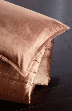 Channel quilting adds understated texture to a plush and supremely versatile velvet quilt.