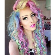 I love rainbow hair