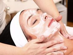 Natural Skin Exfoliator For Sensitive Skin Care Tips. needing an all natural at-home scrub/exfoliator to use on my face. I have acne-prone/sensitive/oily. Hair And Beauty Salon, Beauty Skin, Beauty Salons, How To Do Facial, Facial Diy, Hair Spa, Sensitive Skin Care, Beauty Regimen, Facial Massage