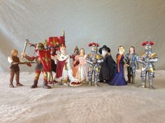 RETIRED Schleich RARITIES COLLECTION Fleur de Lis COURTIERS & KNIGHTS! See Pics!