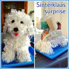 and Great Sinterklaas shock knutselen: Heel veel leuke ideeën Sinterklaas shock hondje .Creative and Great Sinterklaas shock knutselen: Heel veel leuke ideeën Sinterklaas shock hondje . Paper Mache Projects, Paper Mache Crafts, Puppy Valentines, Valentines Diy, Valentine Boxes For School, Cadeau Surprise, Paper Mache Animals, Paper Mache Sculpture, Diy Crafts To Do