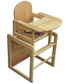 Convertible Wood High Chair Kids don't outgrow our 3in1