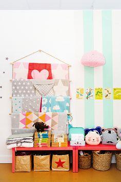 colorful textiles on display at mapamundi kids store / sfgirlbybay